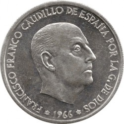 Monedă > 50céntimo, 1966 - Spania  - obverse