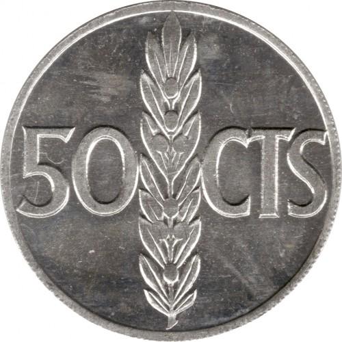 Spagna 50 centesimi 1966 km 795 catalogo coniazioni for Moneta 50 centesimi