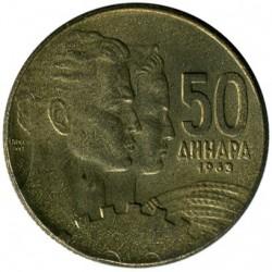 Moneda > 50dinares, 1963 - Yugoslavia  - reverse