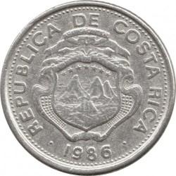 Moneda > 25céntimos, 1983-1989 - Costa Rica  - obverse