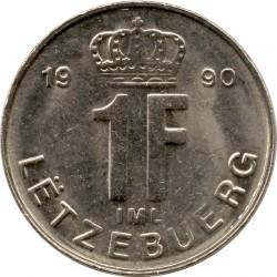 Монета > 1франк, 1988-1995 - Люксембург  - reverse