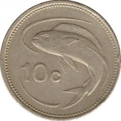 Moeda > 10cêntimos, 1986 - Malta  - reverse