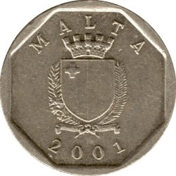 Coin > 5cents, 1991-2007 - Malta  - obverse