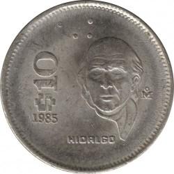 Munt > 10pesos, 1985-1990 - Mexico  - reverse