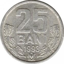 Coin > 25bani, 1993-2018 - Moldova  - reverse