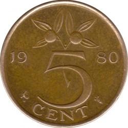 Moneta > 5cents, 1950-1980 - Paesi Bassi  - reverse