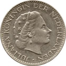 Coin > 1gulden, 1967 - Netherlands  (Nickel /magnetic/) - obverse