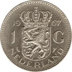 Coin > 1gulden, 1967 - Netherlands  (Nickel /magnetic/) - reverse