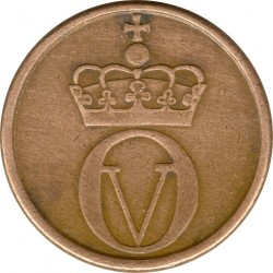 Coin > 2 ore, 1959-1972 - Norway  - obverse