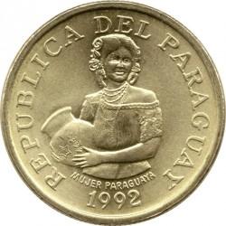 Moneta > 5gvaraniai, 1992 - Paragvajus  - obverse