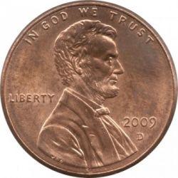 Moneda > 1cent, 2009 - Estats Units  (200è aniversari - Naixement  d'Abraham Lincoln - Infància a Kentucky) - obverse