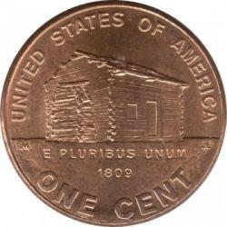 Moneda > 1centavo, 2009 - Estados Unidos  (200 aniversario del nacimiento de Abraham Lincoln - Infancia en Kentucky) - reverse
