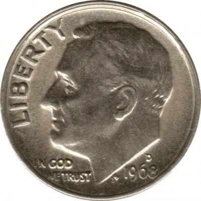Coin 1 Dime 1968