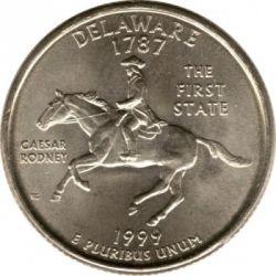 Coin > ¼dollar, 1999 - USA  (Delaware State Quarter) - reverse