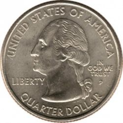 Munt > ¼dollar, 2001 - Verenigde Staten  (North Carolina State Quarter) - obverse