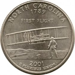 Munt > ¼dollar, 2001 - Verenigde Staten  (North Carolina State Quarter) - reverse