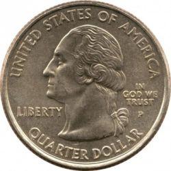 سکه > ¼دلار, 2001 - ایالات متحده آمریکا  (Rhode Island State Quarter) - obverse