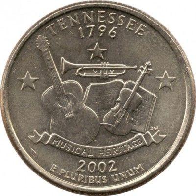 Quarter dollar 2002 tennessee 1796 цена металлоискатель купить в россии