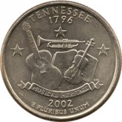Coin > ¼dollar, 2002 - USA  (Tennessee State Quarter) - reverse