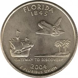 Moneda > ¼dólar, 2004 - Estados Unidos  (Estado de Florida) - reverse