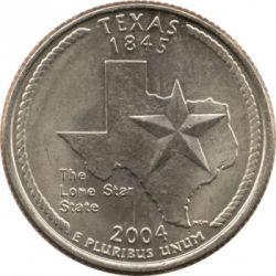 Moneda > ¼dólar, 2004 - Estados Unidos  (Estado de Texas) - reverse