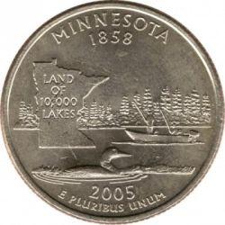 Moneda > ¼dólar, 2005 - Estados Unidos  (Estado de Minnesota) - reverse