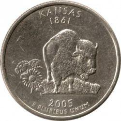 Кованица > ¼долара, 2005 - Сједињене Америчке Државе  (Kansas State Quarter) - reverse