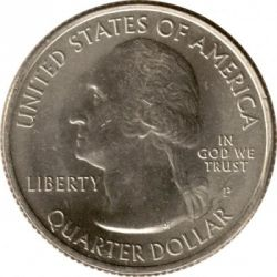Moneda > ¼ dollar, 2010 - Estats Units  (Quarter del Bosc Nacional de Mount Hood) - obverse