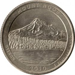 Moneda > ¼ dollar, 2010 - Estats Units  (Quarter del Bosc Nacional de Mount Hood) - reverse