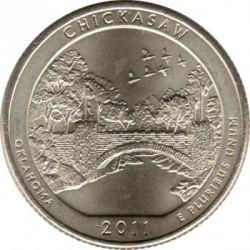 Coin > ¼dollar, 2011 - USA  (Chickasaw National Recreation Area Quarter) - reverse
