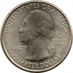 Coin > ¼ dollar, 2012 - USA  (Chaco Culture National Historical Park Quarter) - obverse