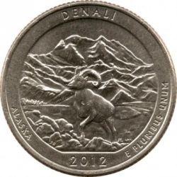 Coin > ¼ dollar, 2012 - USA  (Denali National Park Quarter) - reverse
