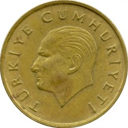 Moneta > 500lire, 1988-1997 - Turchia  - obverse