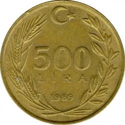 Moneta > 500lire, 1988-1997 - Turchia  - reverse