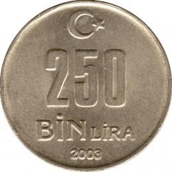 Кованица > 250.000лира, 2002-2004 - Турска  - reverse