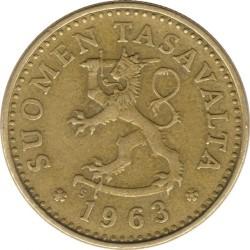Кованица > 10пенија, 1963-1982 - Финска  - obverse