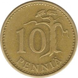 Кованица > 10пенија, 1963-1982 - Финска  - reverse