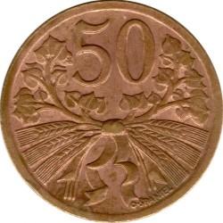 Moneda > 50hellers, 1947-1950 - Txecoslovàquia  - reverse