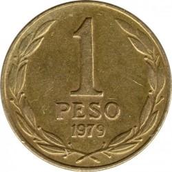Монета > 1песо, 1978-1979 - Чилі  - reverse