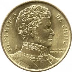 Mynt > 1peso, 1981-1992 - Chile  - obverse