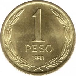 Mynt > 1peso, 1981-1992 - Chile  - reverse