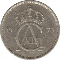 Pièce > 50ore, 1962-1973 - Suède  - obverse