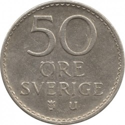 Pièce > 50ore, 1962-1973 - Suède  - reverse