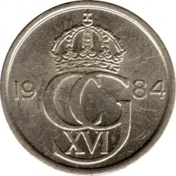 Coin > 10 ore, 1984 - Sweden  - obverse