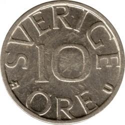 Mynt > 10ore, 1984 - Sverige  - reverse