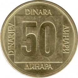 Moneta > 50dinarów, 1988-1989 - Jugosławia  - reverse