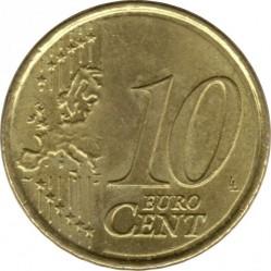 Монета > 10центів, 2007-2009 - Іспанія  - reverse
