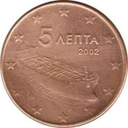 錢幣 > 5eurocent, 2002-2018 - 希臘  - obverse