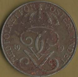 Mynt > 5ore, 1917-1919 - Sverige  - obverse