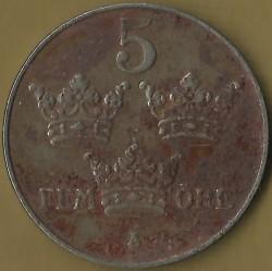 Mynt > 5ore, 1917-1919 - Sverige  - reverse